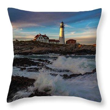 Portland Headlight Throw Pillow
