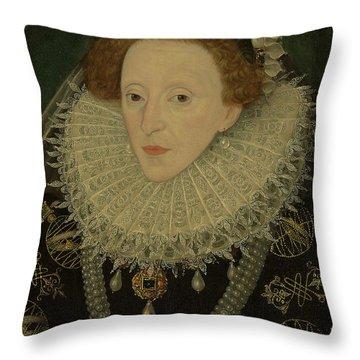Portrait Of Queen Elizabeth I Throw Pillow