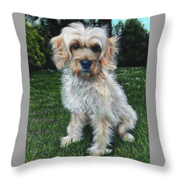 Portrait Of Toffee Throw Pillow