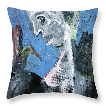 Portrait With A Bird Throw Pillow