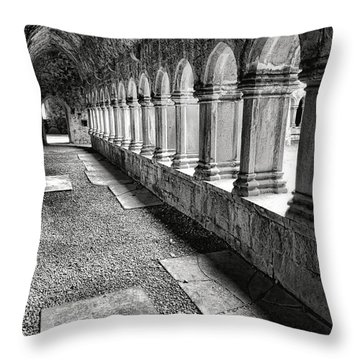 Quin Abbey  Throw Pillow
