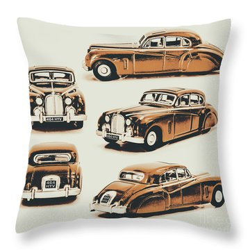 Retro Rides Throw Pillow