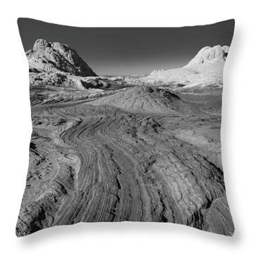 Rock Detail At White Pocket, Paria Throw Pillow