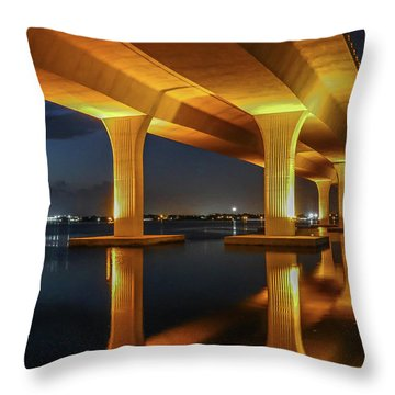 Throw Pillow featuring the photograph Roosevelt Reflection by Tom Claud