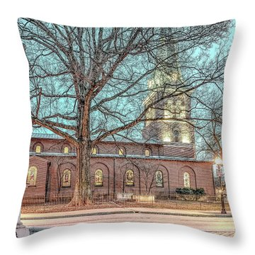Saint Annes Circle With Fountain Throw Pillow