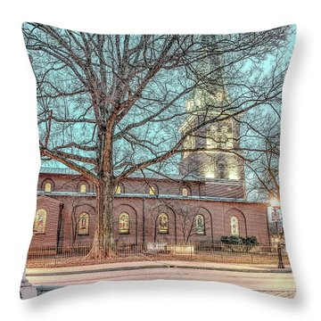 Throw Pillow featuring the photograph Saint Annes Circle With Fountain by Jim Proctor