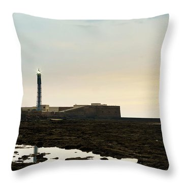 Throw Pillow featuring the photograph Saint Sebastian Lighthouse Cadiz Spain by Pablo Avanzini