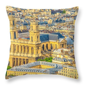 Saint Sulpice Church Paris Throw Pillow