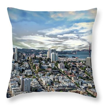 Throw Pillow featuring the photograph San Francisco Bay Area by Anthony Dezenzio