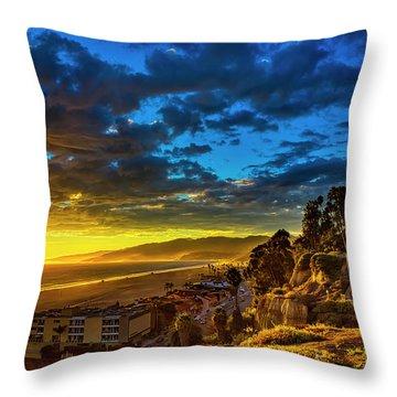 Santa Monica Bay Sunset - 10.1.18 # 1 Throw Pillow
