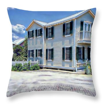 Throw Pillow featuring the photograph Seaside Village by Anthony Dezenzio