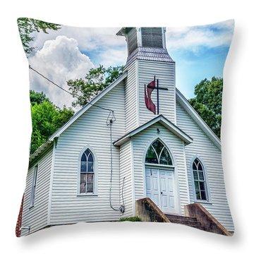 Seebert United Methodist Church Throw Pillow