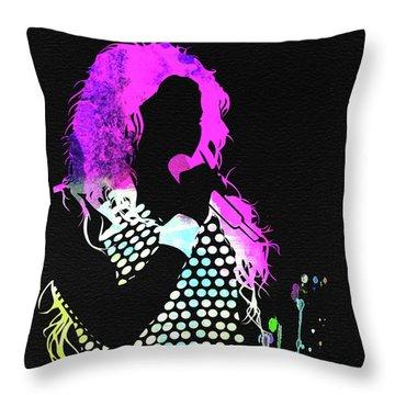 Shakira Watercolor Throw Pillow