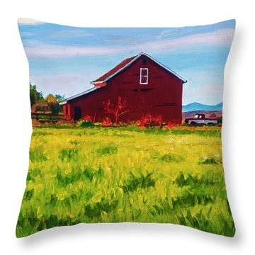 Skagit Valley Barn #4 Throw Pillow
