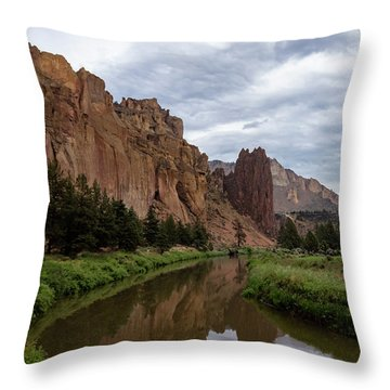 Smith Rock Reflections Throw Pillow