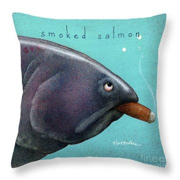 Smoked Salmon Throw Pillow