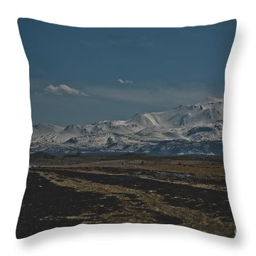 Snow-covered Mountains In The Turkish Region Of Capaddocia. Throw Pillow
