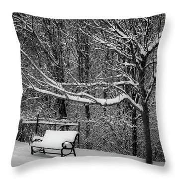 Snow Day Throw Pillow