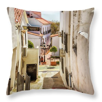 spring season, Spain Throw Pillow
