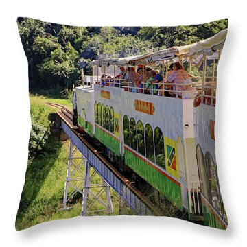 Throw Pillow featuring the photograph St Kitts Railway by Tony Murtagh