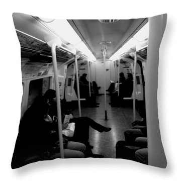 Throw Pillow featuring the photograph Subway by Edward Lee