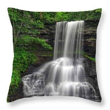 Summer Cascades Throw Pillow