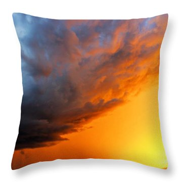 Throw Pillow featuring the photograph Sunset Storm by Candice Trimble