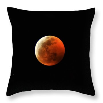 Super Blood Wolf Moon Throw Pillow