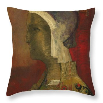 Symbolic Head, 1890 Throw Pillow