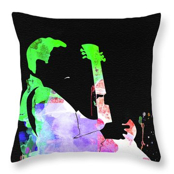 T-bone Walker Watercolor Throw Pillow