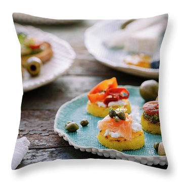 Tapas Throw Pillow