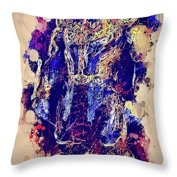 Thanos Watercolor Throw Pillow