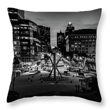 Throw Pillow featuring the photograph The Calling At Blue Hour by Randy Scherkenbach
