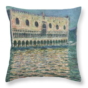 The Doge's Palace Seen From San Giorgio Maggiore, 1908 Throw Pillow