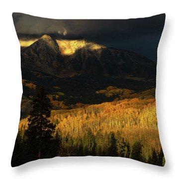 The Golden Light Throw Pillow