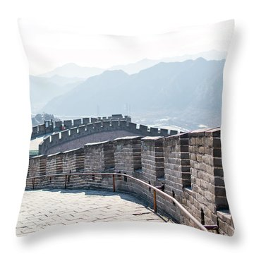 The Great Wall Of China Throw Pillow
