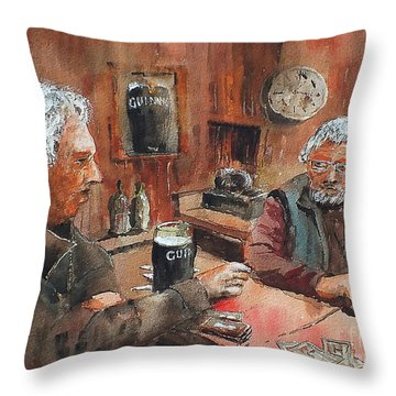 Throw Pillow featuring the painting The Knave Wins by Val Byrne