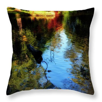 Throw Pillow featuring the photograph The Pond At Inglewood House by Jeremy Lavender Photography