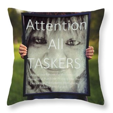 Thebroadcastmonkey Throw Pillow