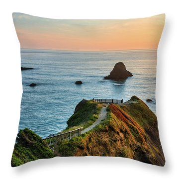 Trinidad Ocean Viewpoint Throw Pillow