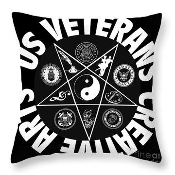 U.s. Veterans Creative Arts Throw Pillow