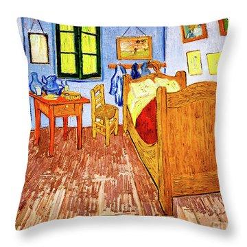 Van Gogh's Bedroom Throw Pillow