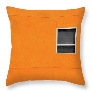 Very Orange Wall Throw Pillow