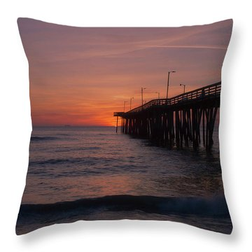 Throw Pillow featuring the photograph Virginia Sunrise by Pete Federico
