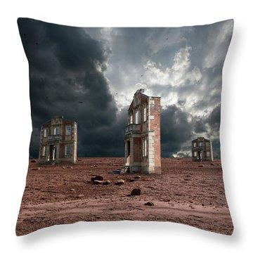 Wasteland Of Facades Throw Pillow