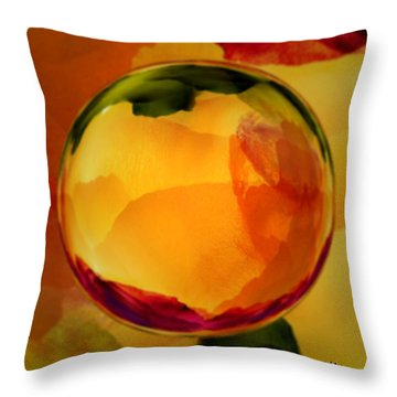 Watercolor Glass Marble  Throw Pillow