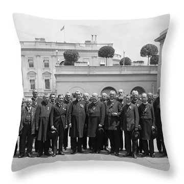 White House Reception By President Throw Pillow