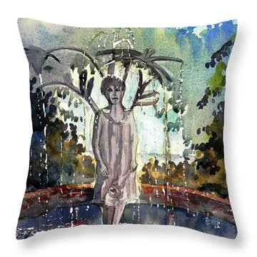 Why Does It Always Rain On Me Throw Pillow