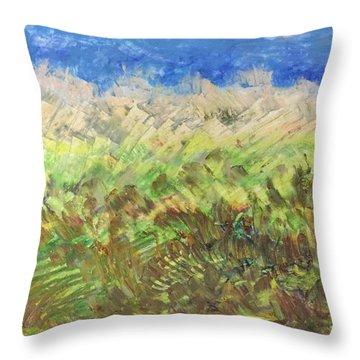 Windy Fields Throw Pillow