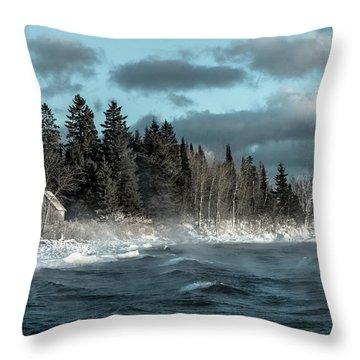 Winter Blues II Throw Pillow